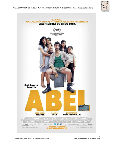 "AP Span. Lit.  movie ""Abel"" and Relaciones Int."