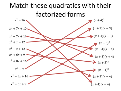 Match quadratics