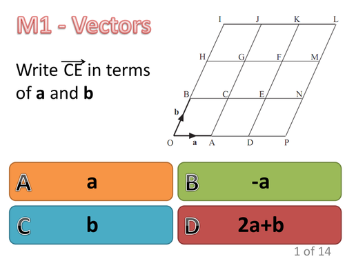 Vectors multiple choice
