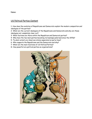 Workbook on the Polarization of Parties