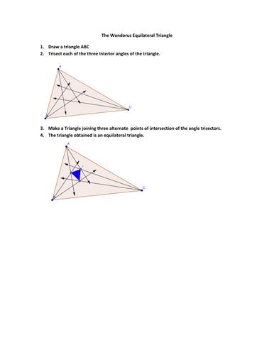 The wondorous triangle