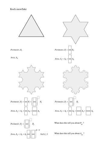 Koch snowflake worksheet