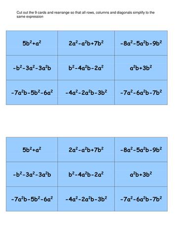 Polynomial Magic Square