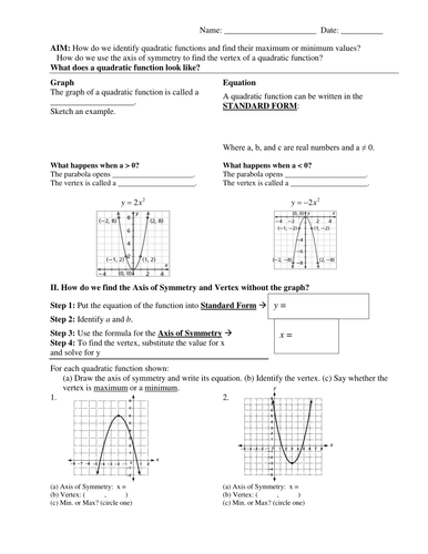 Quadratic and Exponential Functions