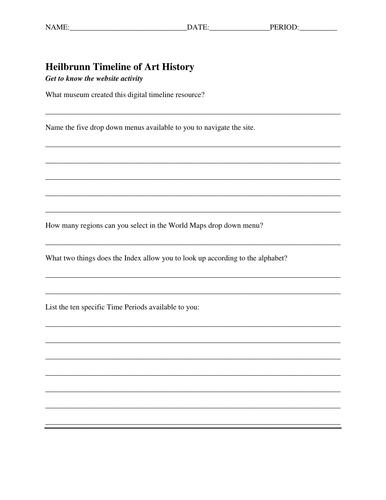 Learn to Use - Heilbrunn Timeline of Art History