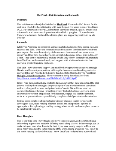grade common core english lesson plans the pearl critical  grade 12 common core english lesson plans the pearl critical perspectives by msrowland teaching resources tes