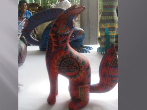Alebrijes in Arrazola: local carved sculptures