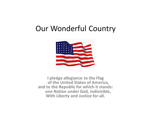 Our Wonderful Country: Presidents, liberty