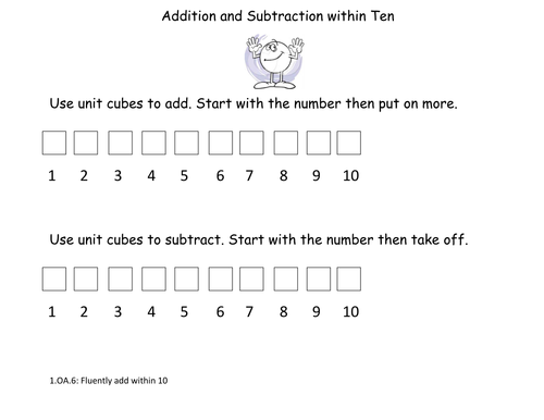Hands on Number Line for Addition and Subtraction