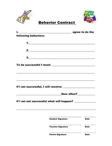 Individual Behavior Contract
