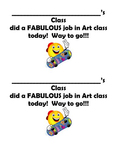 Art Award and Feedback Form
