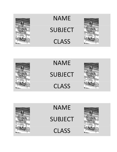Music book labels design 2