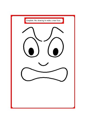 Cartoon Face Sad