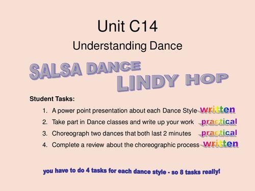 Performing Arts - Understanding Dance