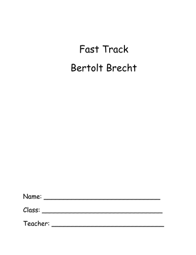 Brecht introduction booklet