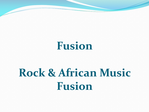 Music Rock/African Fusion