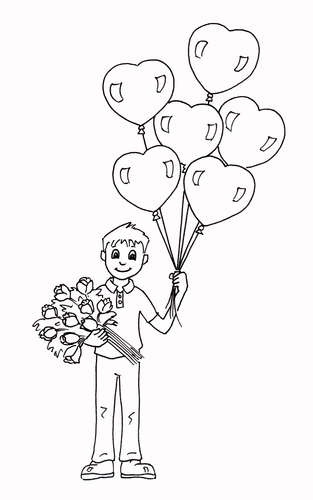Valentine's Day - Coloring Page