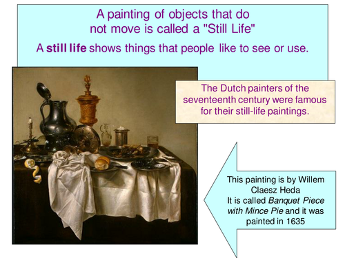 Still Life/Cubism PowerPoint and handout
