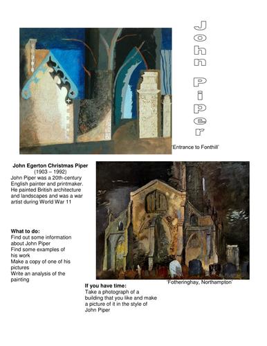 Hockney and John Piper Landcsape