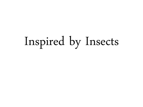 Insect project idea