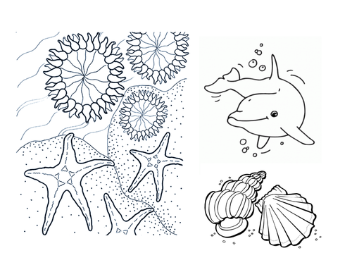 coloring sheet make an aquarium