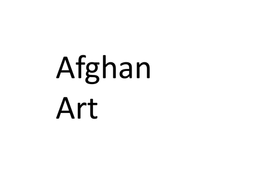 Art from Afghanistan