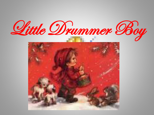 'Little Drummer Boy' PowerPoint lyrics