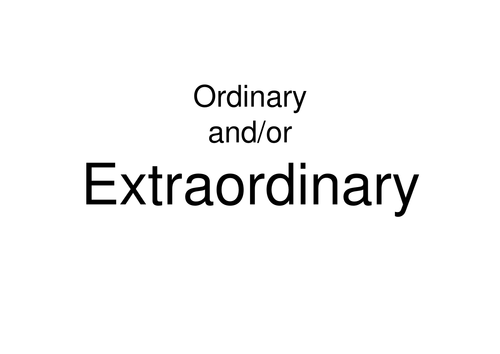 Ordinary and/or Extraordinary