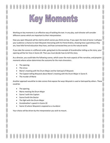 Tackling key moments in Woyzeck