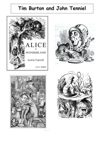 COMPARE PEN AND INK ALICE IN WONDERLAND ILLUS.