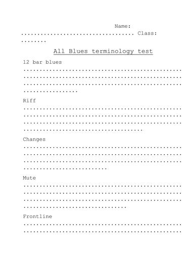 Miles Davis - 'All Blues' Terminology Test
