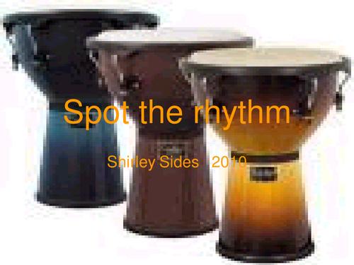 Spot the rhythm