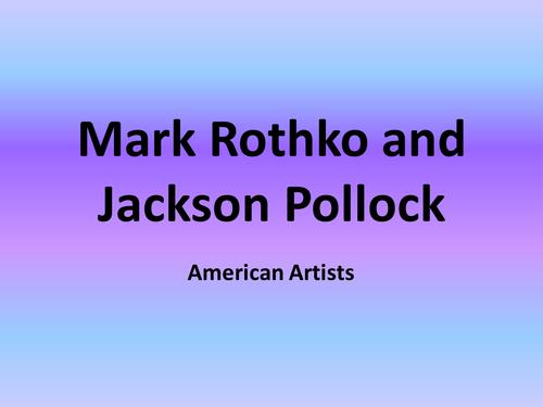 Rothko and Pollock