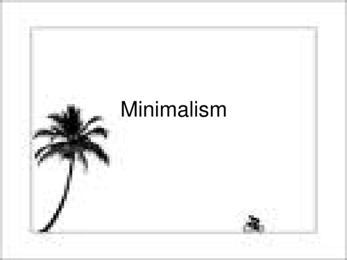 Minimalism 'Electric counterpoint'