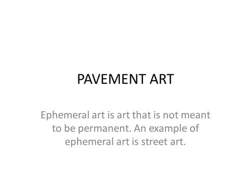 PowerPoint of Pavement Art