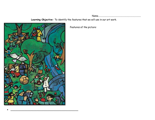 If the world were a village art handout