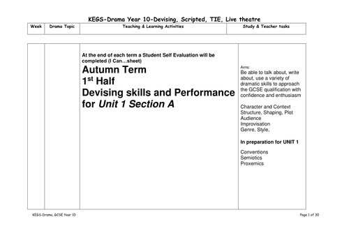 Student guide and scheme of work
