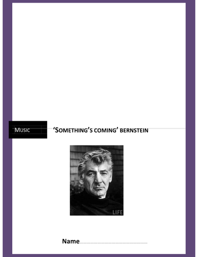 Something's Coming - Bernstein
