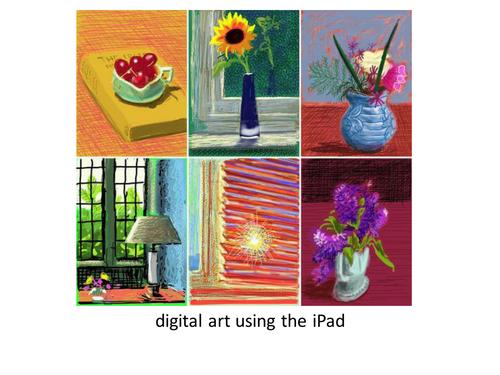 Using the iPad to create art work