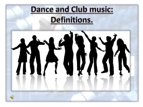 Dance music - Definitions