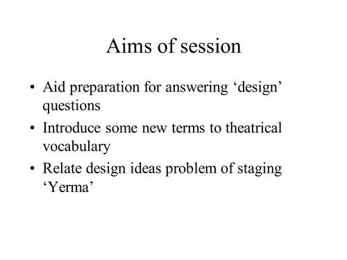 Set design ideas (PowerPoint)