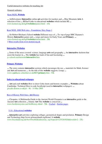 Art interactive website list