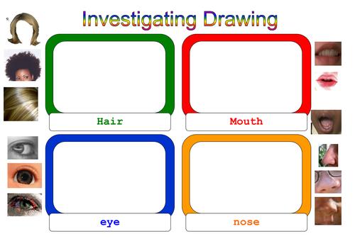 Investigating drawing: self-portrait