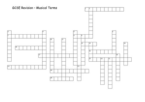 Musical Terms Crossword