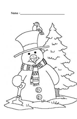 Christmas coloring in pictures