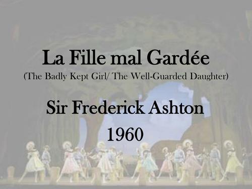 La Fille mal Gardee presentation (Dance - set work)