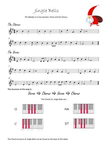 Jingle Bells Classroom Orchestra Handout