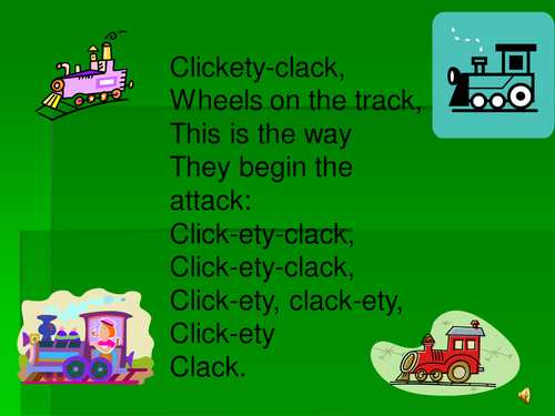 Train poem PowerPoint