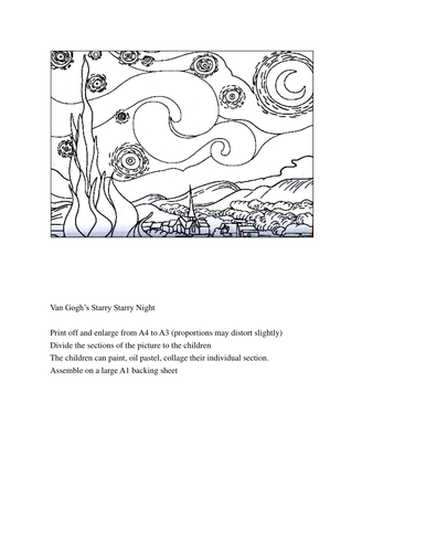 Van Gogh's Starry Night - Group Project