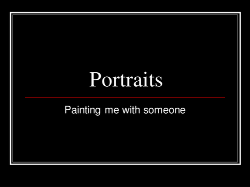 Portraying Relationships in a Painting